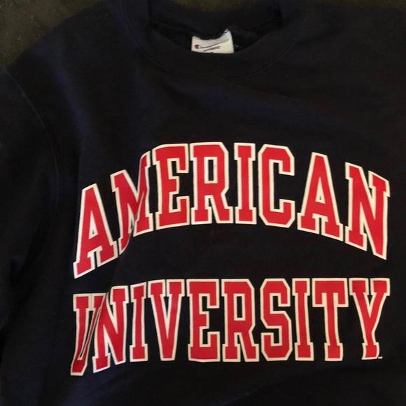 American University Champion Crew Neck Sweatshirt